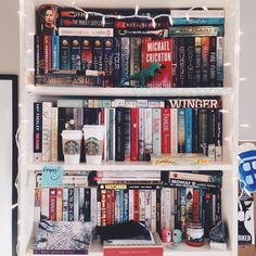 Updated bookshelf picture!! These are not all my shelves, just a few of the… Film Regal, Ya Books, I Love Books, Book Club Books, Books To Read, Book Aesthetic, Book Nooks, Book Nerd, Book Journal