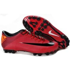 http://www.asneakers4u.com/ New Discount Nike Jnr Mercurial Victory II AG Artificial Grass Soccer Cleats Red/Black/Orange