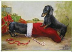Dachshund Holiday Cards - Dachshund Rescue of North America - Doxie Store #Dachshunds #DoxieDarlin' #Doxie