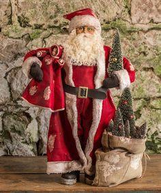 Red Santa & Toys Statue #zulilyfinds