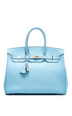 Hermes 35cm blue celeste & mykonos candy collection epsom birkin by HERITAGE AUCTIONS SPECIAL COLLECTION Preorder Now on Moda Operandi