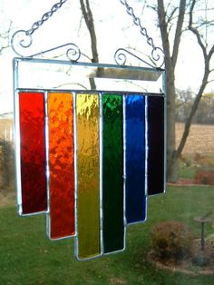 Rainbow Multi Length Suncatcher by islandglass1 on Etsy, $32.00