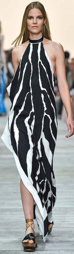 Roberto Cavalli 2015 SS RTW - Animal print Zebra lines