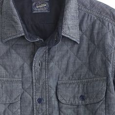 Quilted chambray