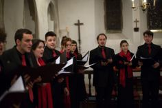 The University Chamber Choir performing an Advent Sequence at the church of St Damian & St Cosmus, Blean. Image: Matt Wilson.