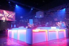 Hoogglans buffetten met LED #event #verhuur