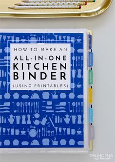 How to Make an All-In-One-Kitchen Binder Streamline your meal planning, grocery planning, and dinner prep with an All-In-One Kitchen Binder that includes recipes, resources, and anything else you need right at your finger tips! Meal Planning Binder, Budget Meal Planning, Meal Planner, Happy Planner, Meal Planning Board, Kitchen Planning, Planner Ideas, Binder Organization, Recipe Organization