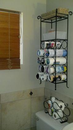 Wine racks used for magazine/towel/toilet paper holder