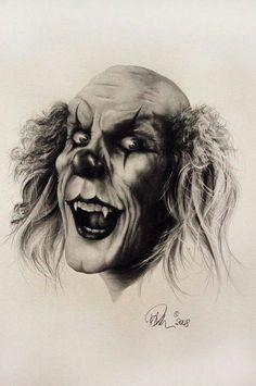 Very Scary Clowns Day Of Dead, Creepy Drawings, Amazing Drawings, Scary Clown Drawing, Very Scary, Creepy Art, Arte Horror, Horror Art, Dark Fantasy Art