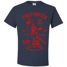 Firefighter T Shirt Gifts Only The Strong Serve and Rescue T-Shirts for Men Women Firemen Adult Unisex T-Shirt Unisex Gifts, Firemen, Firefighter, Strong, Mens Tops, T Shirt, Women, Unique, Sleeves