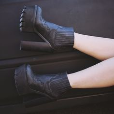 Jeffrey Campbell Black Bounty Leather Boots Brand new with original box. Retails for $200+ Jeffrey Campbell Shoes
