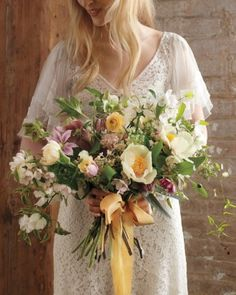 Spring Wedding Flowers We Love, Love, Love From Our Favorite Florists - Fill the Bouquet to the Brim
