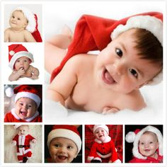Perky Santa Babies Small Baby Wallpaper Children Cute Pictures Merry Christmas