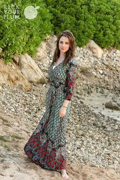 LOVE this Maxi Wrap Dress from Pick Your Plum - only $32.99