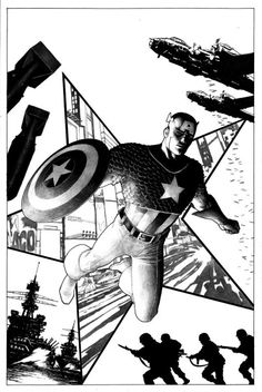 Captain America cover by Steve Niven Steve Mcniven, Captain America Comic, Comic Character, Comic Books Art, Cover Art, Marvel Comics, Avengers, The Outsiders, Movie Posters