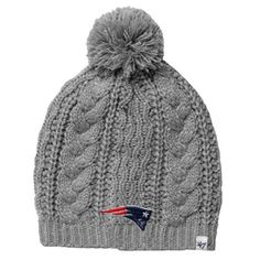 '47 Brand New England Patriots Ladies Kiowa Knit Hat – Gray