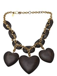 ERICKSON BEAMON VINTAGE - oval chain statement necklace 5