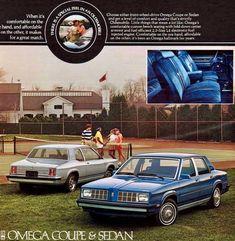 Oldsmobile Omega Coupe and Sedan Funny Vintage Ads, Vintage Humor, Vintage Advertisements, Vintage Cars, Gm Car, Car Memes, Car Advertising, Unique Cars, Old Ads