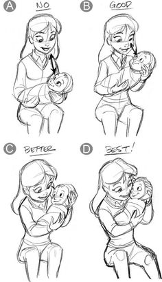 Ideas baby drawing tutorial cartoon for 2019 Drawing Skills, Drawing Poses, Drawing Techniques, Figure Drawing, Drawing Sketches, Art Drawings, Drawing Tips, Sketching, Disney Drawings