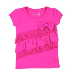 girls pink t-shirt, DreamStar for girls, frilly top for girls