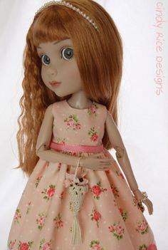 """Patience in Peach"", a hand made ensemble for Wilde Imagination's Patience doll, cindyricedesigns.com ."