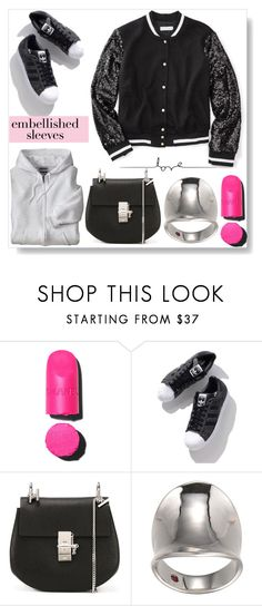 """""""Pink To Make The Boys Wink..."""" by desert-belle ❤ liked on Polyvore featuring Chanel, Chloé, adidas, chloe, polyvoreeditorial and embellishedsleeves"""