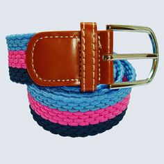 Shop|Horizontal|Stripe|Woven|Belt|Blue|Pink|Navy|Buy|Bassin and Brown – Bassin And Brown Navy Chevron, Woven Belt, Brown Belt, Stripes Design, Belt Buckles, Belts, Shop, Fabric, Pink