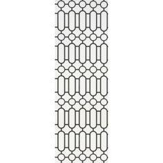Porden_black and white Geometric Wallpaper, Designers Guild, Company Logo, Black And White, Entrance, Storage, Black White, Entryway, Blanco Y Negro
