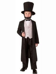 Kids Abraham Abe Lincoln Costume