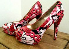 Betty+boop+customised+shoes+by+SHUmaze+on+Etsy
