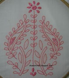 My craft works: Chickankari Embroidery