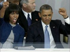 Black Panther rally ---- Very classy image of an American president >>> NOT!