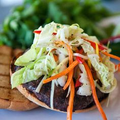 Thai style burgers are one of our favorite surprises to make.