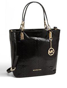 MICHAEL MICHAEL KORS Medium Brooke Embossed Python Leather Shoulder Bag