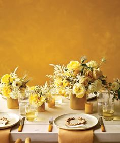 The Perfect Palette: {To Napa Valley}: Mustard, Gold, Yellow & Ivory
