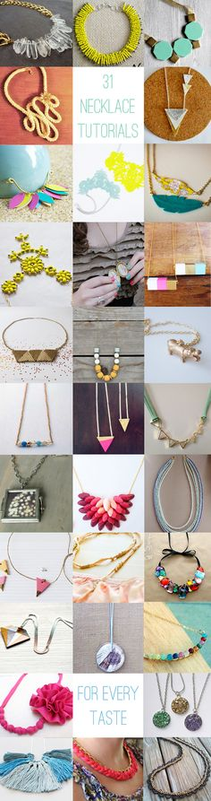 31 DIY Necklace Tutorials | HelloNatural.co