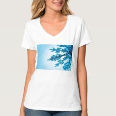 Blue Snowflake Ornament T-Shirt #christmas #womensfashion #xmas #womensclothing