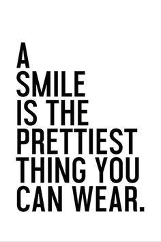 "Juniqe® Motivation Typografie & Symbole Leinwandbild - Design ""A Smile is The Prettiest"" entworfen von Honeymoon Hotel Smile Quotes, Happy Quotes, Words Quotes, Wise Words, Positive Quotes, Motivational Quotes, Inspirational Quotes, Sayings, Quotes To Live By"