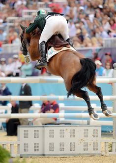 Irish riderCian O'Connor and Blue Loyd 12 fly to a bronze medal in yesterday's Olympic individual show jumping final. (Chronicle of the Horse)