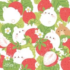 #molang #strawberry #kawaii #cute