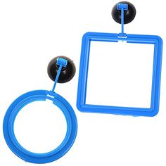 COSMOS Square and Round Shape Aquarium Safe Fish Feeding Station Feeder Ring with Sucker Suction Cup Base ** You can find more details by visiting the image link.
