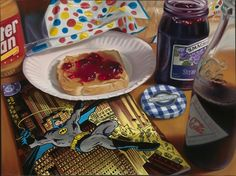 Combining an obvious love for comics, junk food and pop art, Doug Bloodworth creates paintings that would make any foodie or comic book geek drool. Hyper Realistic Paintings, Amazing Paintings, Amazing Art, Oil Paintings, Hyperrealism Paintings, Junk Food, Sweet Station, Nostalgic Art, Food Painting