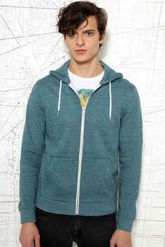 Commodity Stock Turquoise Hoodie at Urban Outfitters