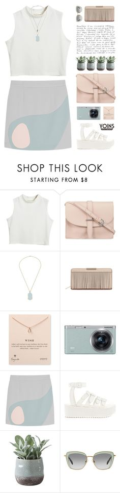"""West Coast - Lana Del Rey"" by chelseapetrillo ❤ liked on Polyvore featuring Chicnova Fashion, M.N.G, Dogeared, Samsung, Alexander Lewis, Y.R.U., Torre & Tagus, Miu Miu and melsunicorns"