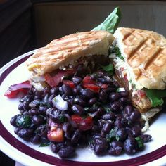 Special for week of July 30th   Hot Pressed Vegan Cuban Sandwich, Black Bean Salad with Cilantro Vinaigrette