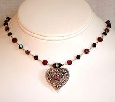 GARNET LOCKETS SILVER - Diamond Pendants, Gold Jewelry