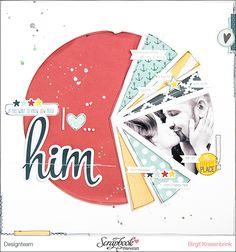 Inspirationsgalerie - Layout Werkstatt - Scrapbook Werkstatt - Layout mit Diagramm von Birgit Krasenbring