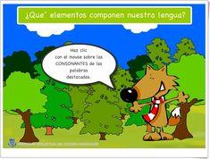Consonantes (Juego de Lengua Española de Primaria) Grinch, Chile, Drawings, Frases, Interactive Activities, Spanish Language, Teaching Resources, Preschool, Learning