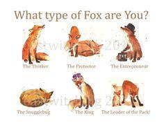 Watercolor Fox Print fox print ready to frame от eastwitching Fox Spirit, My Spirit Animal, Fuchs Illustration, Fantastic Fox, What Animal Are You, Watercolor Fox, Raven Art, Mr Fox, Fox Art