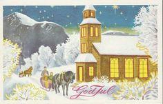 Julekort George Schumann brukt 1960-tallet